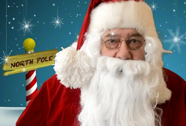make a custom video of Santa delivering a message to anyone, anywhere