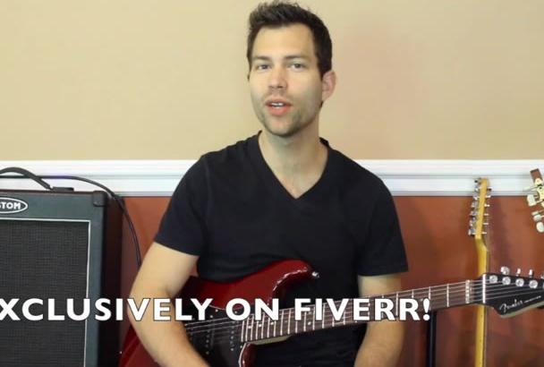 make a custom guitar lesson video for your website