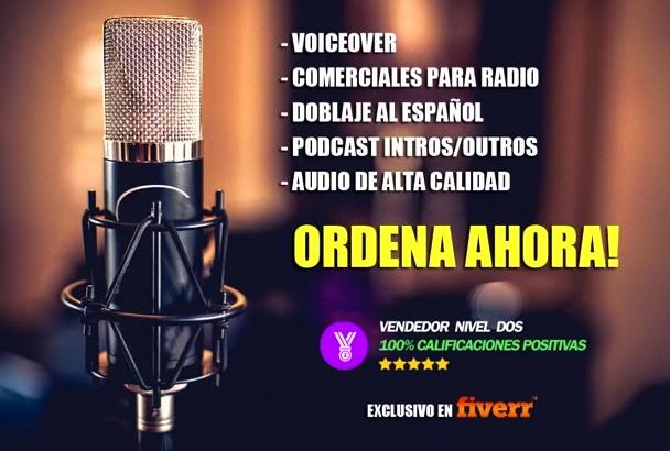 grabar un Voiceover Profesional en Español
