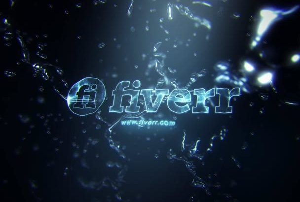 make a 3D PERFECT animated video with Water and Logo