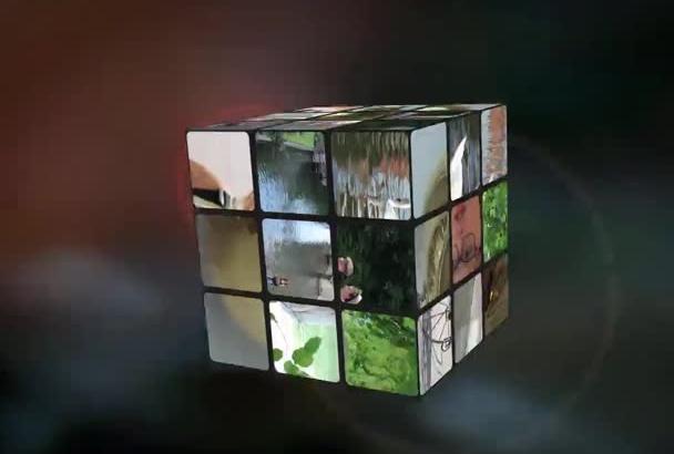 create an Animated Rubik Cube Video