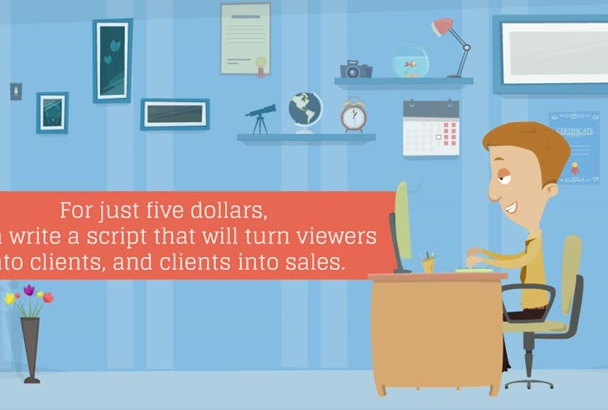 write a script for your video that makes sales