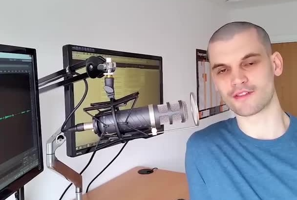 record a clear british male voiceover
