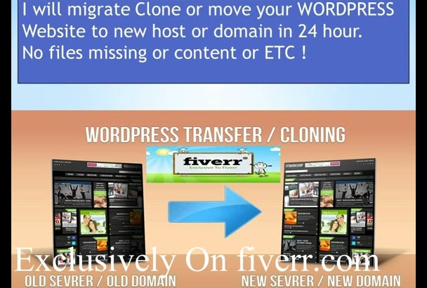 migrate or transfer  WordPress site in 24 hour