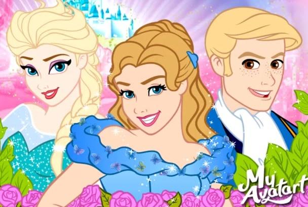 draw Fairy Tales cartoon yourself from photos