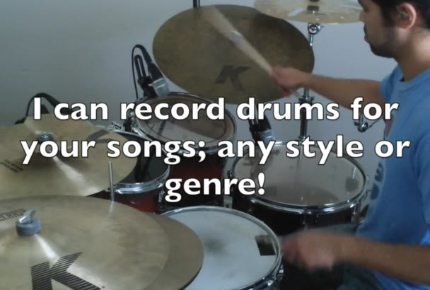 record REAL acoustic drums for you and send you files