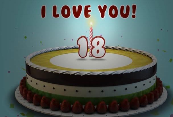 create birthday greeting video