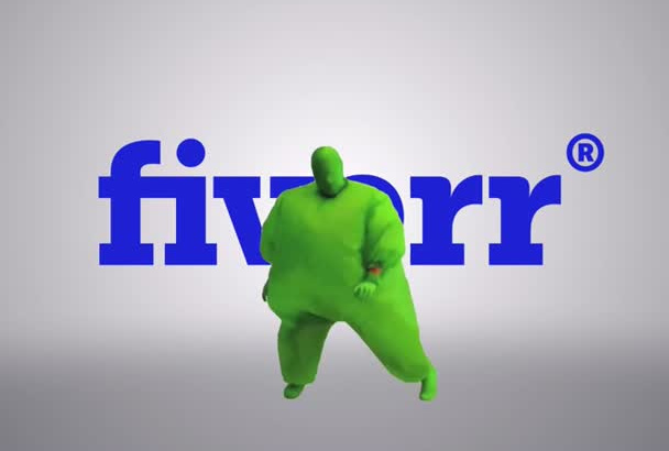 advertise your Logo in my big fat green suit FREEDANCE style