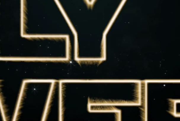 create a custom Star Wars intro with your own words