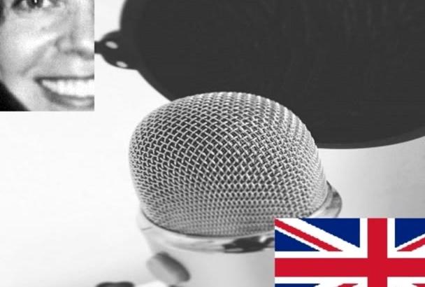 record a female British voiceover
