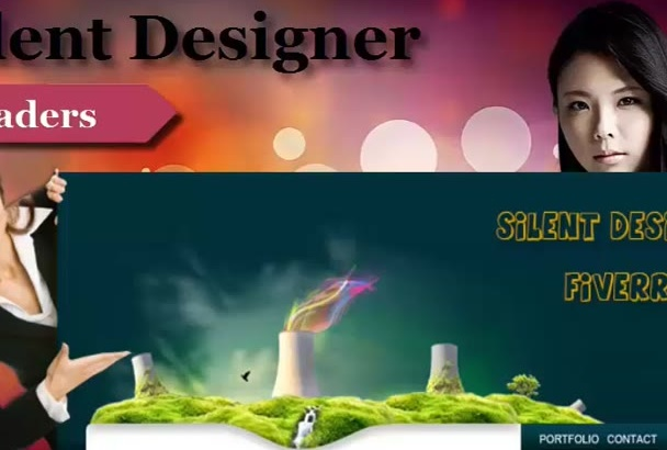 design amazing Header, Banner, Ads, website Covers