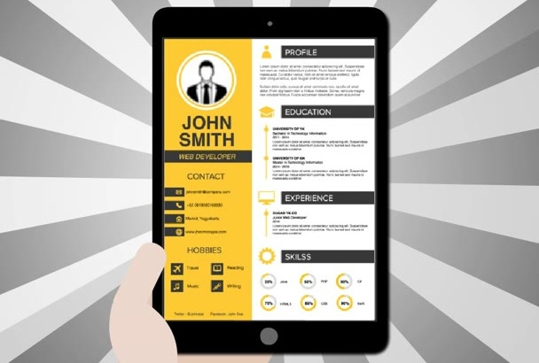 design professional Resume and CV in 24 hours