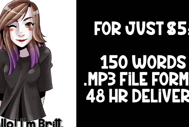 record a 100 word professional female voice over