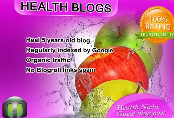 write and guest post on my HEALTH blog