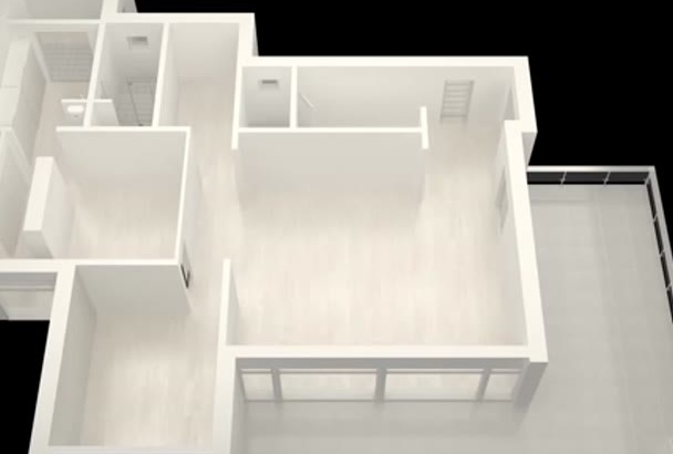 model your 2d floor plan into 3d fastest