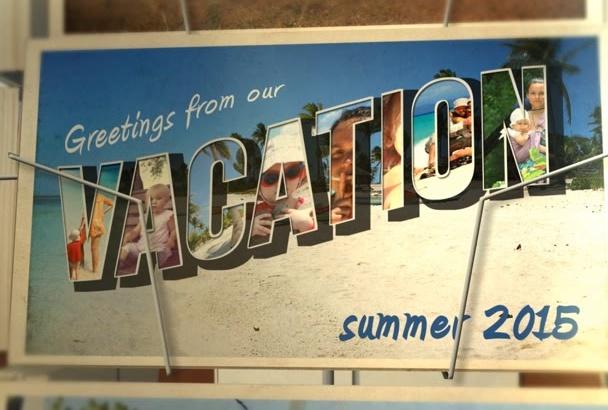 create unique  Postcard Vacation slideshow