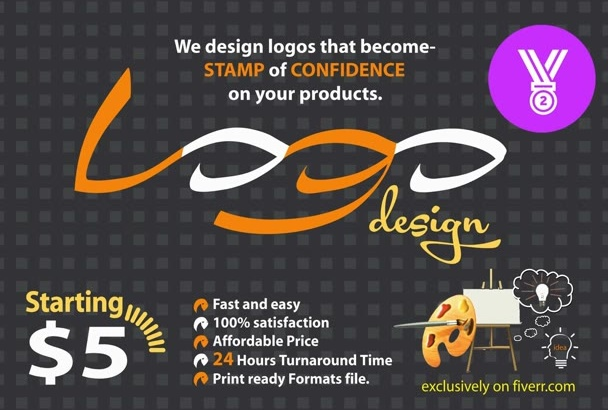 do 2D ELEGANT Logo for your business within 12 hrs