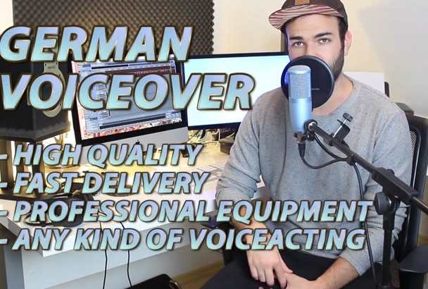 record a Professional Voiceover in German or English with accent
