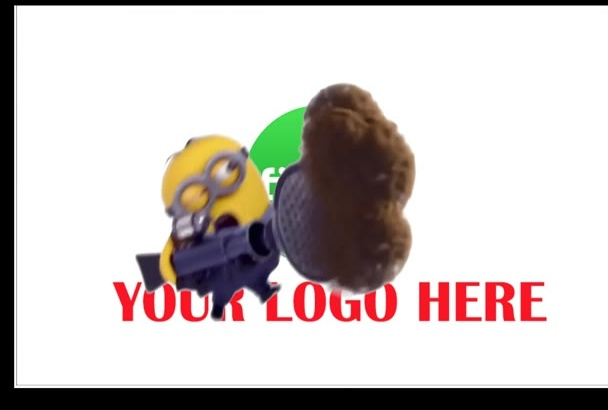 make Minion Funny Jump in front of your Logo and Promote it