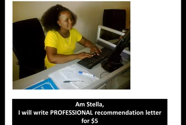 write PROFESSIONAL recommendation letter