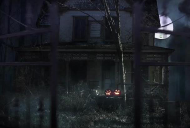 create a Scary Halloween Haunted House Slideshow
