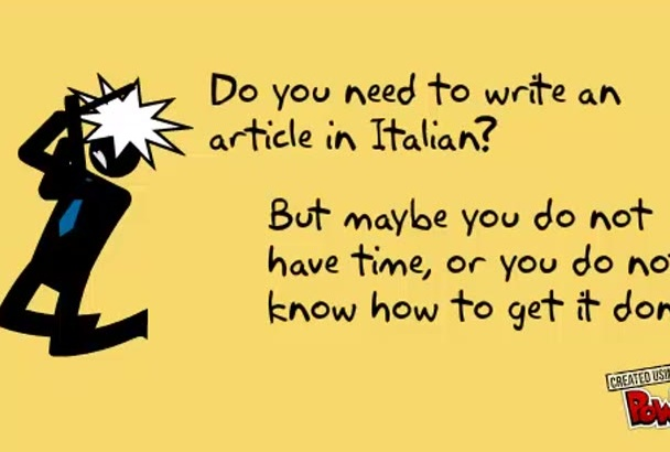 write a 500 words article in Italian