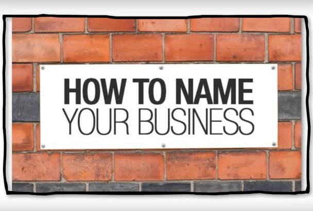 brainstorm catchy names for your business or brand