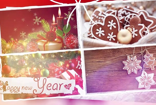 create Amazing Christmas and New Year intro