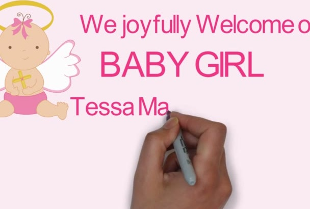 do a welcome baby announcement video