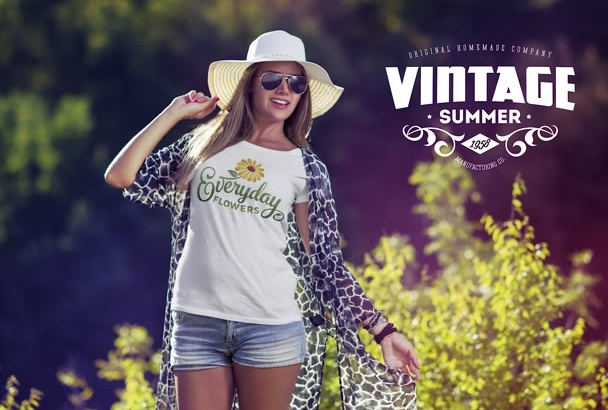 put your design on Tshirt mock up apparel clothing line