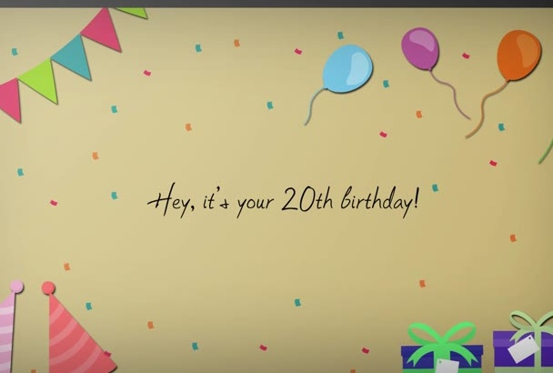 animate and personalize this birthday eCard for you
