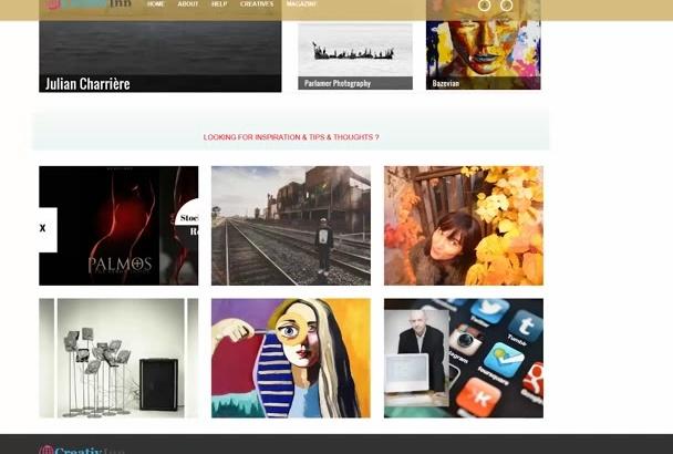 publish your Artist Profile on CreativInn