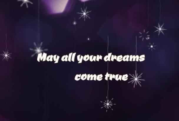 make SNOWY new year greeting