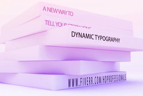 present your idea in 3D Dynamic typography