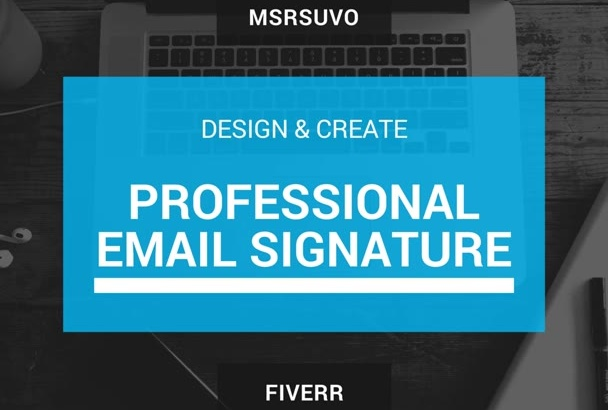 create a professional eye catching email signature