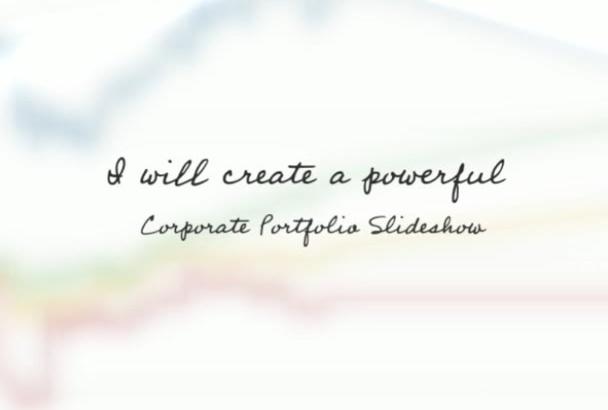 create an elegant corporate slideshow video