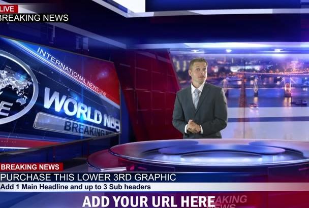 create a Breaking News Business Presentation