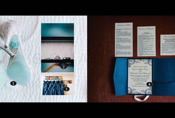 create an story telling wedding Album