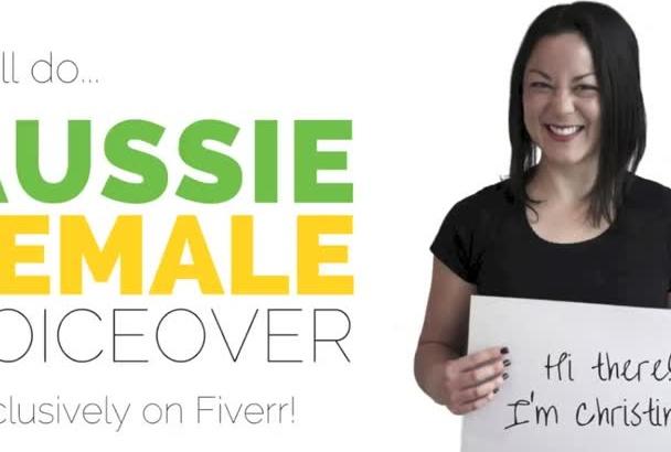 do friendly Australian female professional voice over
