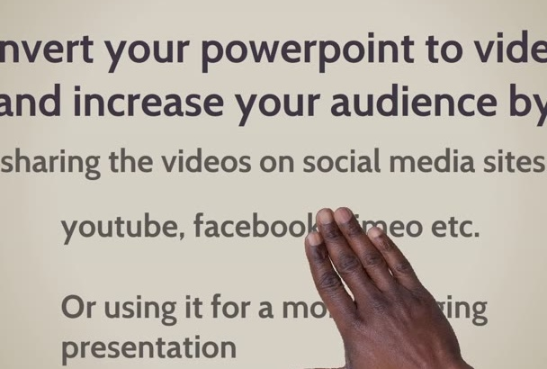 convert your PowerPoint presentation into a full HD video