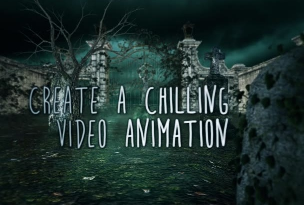 make a horror Halloween animation with your Logo and Titles