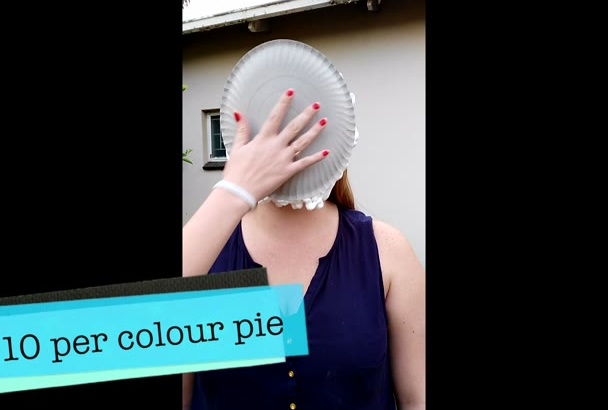 get pied in the face with either a white or colour pie