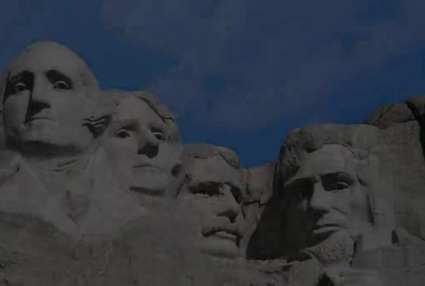 make Mt Rushmore heads sing Happy Birthday