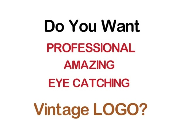 design 2 stunning Retro Vintage Logo