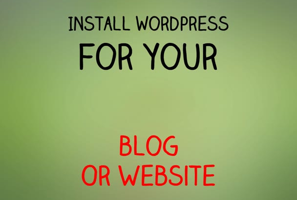 install wordpress for your blog website
