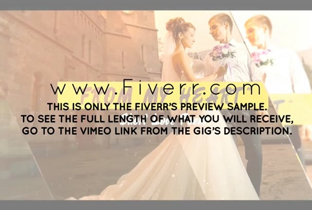 customize ae Slideshow Template for WEDDING Love or Family Pictures Album