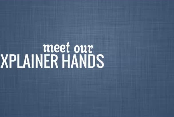 create hand Explainer Video