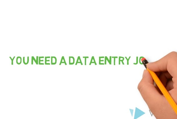 do data entry on any platform or database for you