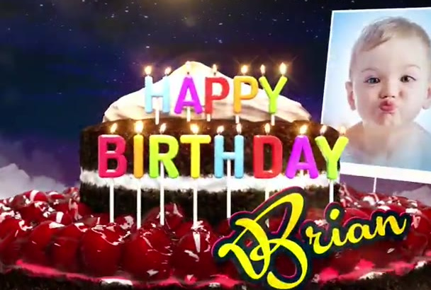 make a FESTIVE Happy Birthday Greeting animated Video