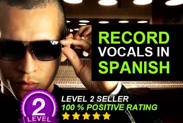 record Vocals in Spanish